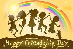 Kids celebrating Friendship Day Royalty Free Stock Photography