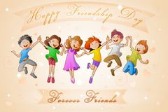 Kids celebrating Friendship Day Stock Photo