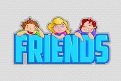 Kids celebrating Friendship Day Stock Image