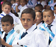 Kids celebrating independence day in central America Royalty Free Stock Photos