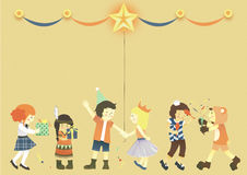 Kids celebration. Holiday comes, and kids are all happy! There are only some special occasion throughout the year for kids to have a party such as Christmas, New Royalty Free Stock Photo