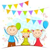 Kids in Celebration Background Stock Photos