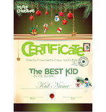 Kids certificate for Christmas Royalty Free Stock Images