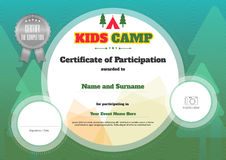 Kids certificate template in vector Royalty Free Stock Photography