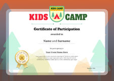 Kids certificate template in vector stock illustration