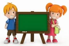 Kids and Chalkboard