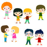 Kids character set Royalty Free Stock Photos