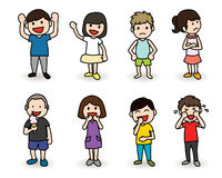 Kids characters Stock Images