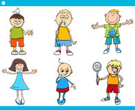 Kids characters cartoon set Royalty Free Stock Photos