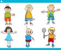 Kids characters cartoon set Royalty Free Stock Photos