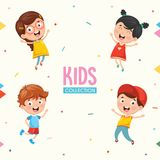 Kids Characters Collection Vector Illustration. Eps 10 Royalty Free Stock Photos