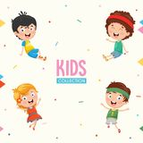 Kids Characters Collection Vector Illustration. Eps 10 Stock Photography