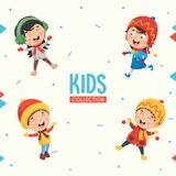 Kids Characters Collection Vector Illustration. Eps 10 Stock Image