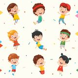 Kids Characters Collection Vector Illustration. Eps 10 Royalty Free Stock Photography