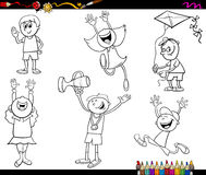 Kids characters coloring page Royalty Free Stock Photography