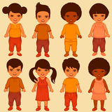 Kids characters Stock Image