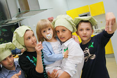 Kids at charity party in school Royalty Free Stock Images