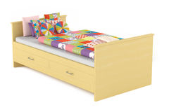 Kids child bed isolated Royalty Free Stock Image