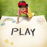 Kids Childhood Enjoy Fun Play Activity Concept. Kids Childhood Enjoy Fun Play Activity Royalty Free Stock Photo