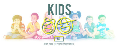 Kids Children Childhood Boys Girls Concept Stock Photo