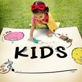 Kids Children Childhood Imagination Concept. Kids Children Childhood Imagination Drawing Stock Photography