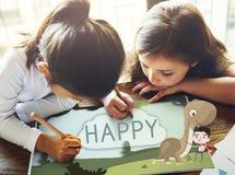 Kids Children Childhood Imagination Happy Concept Stock Photography