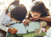 Kids Children Childhood Imagination Happy Concept. Kids Children Childhood Imagination Happy Stock Image