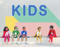 Kids Children Childhood Youth Concept Royalty Free Stock Image