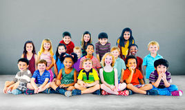 Kids Children Diversity Happiness Group Cheerful Concept Royalty Free Stock Images