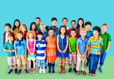 Kids Children Diversity Happiness Group Concept Royalty Free Stock Photography