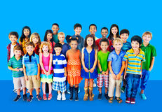 Kids Children Diversity Happiness Group Concept.  Royalty Free Stock Images