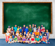 Kids Children Diversity Happiness Group Concept.  Royalty Free Stock Image