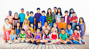 Kids Children Diversity Happiness Group Concept Royalty Free Stock Image