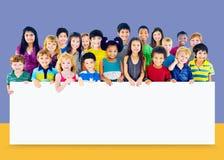 Kids Children Diversity Happiness Whiteboard Cheerful Concept Stock Photos