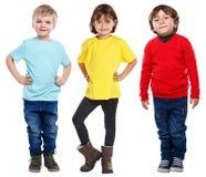 Kids children little boys girl full body portrait isolated on white stock photo