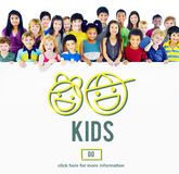 Kids Children Offspring Generation Life Concept royalty free stock photos