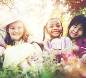 Kids Children Playing Happiness Concept stock photos