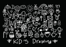 Kids and children's hand drawings. An images of kids and children's hand drawings Stock Photo