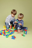 Kids, Children Sharing and Playing Together Royalty Free Stock Photography