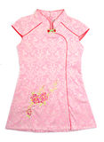 Kids chinese dress for girls on background Royalty Free Stock Photos