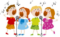 Kids Choir. Vector illustration with kids Choir Royalty Free Stock Photo