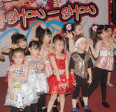 Kids christmas dancing event in hong kong Stock Photos