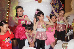Kids christmas dancing event in hong kong Royalty Free Stock Image