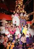 Kids christmas dancing event in hong kong Stock Image