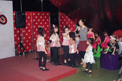Kids christmas dancing event in Hong Kong Royalty Free Stock Images