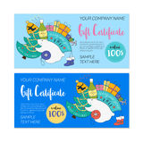 Kids 2017 christmas gift certificate Stock Photography