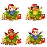 Kids Christmas Gifts vector illustration