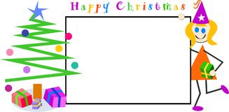 Kids Christmas sign Stock Images