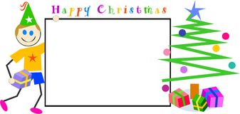 Kids Christmas sign stock illustration