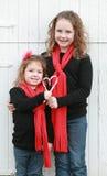 Kids at Christmas royalty free stock image